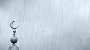 Islamisches Symbol auf Moschee im regnerischen Wetter Lizenzfreie Stockbilder