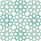 Islamisk belägga med tegel modell Arkivbild