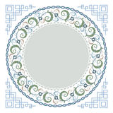 Islamisk blom- konst royaltyfri illustrationer