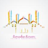 Islamisk festivalbakgrund stock illustrationer