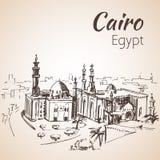 Islamisk Kairo och moskén av Sultan Hassan stock illustrationer
