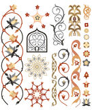 Islamisk konstmodell stock illustrationer