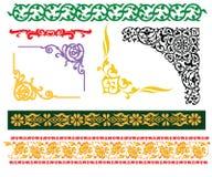 islamisk malayprydnad för kanter Arkivbilder
