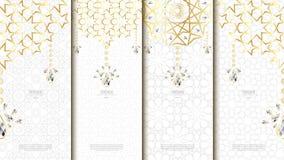 Islamisk mall för modellbeståndsdelbegrepp med diamanttappninglodisar Royaltyfria Bilder