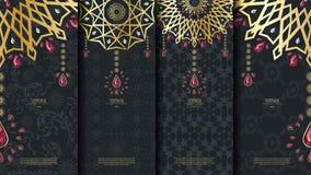 Islamisk mall för modellbeståndsdelbegrepp med rubintappningmörker Royaltyfri Foto
