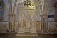 Islamisk mihrab i Coenaculumen, Jerusalem, Israel royaltyfria bilder