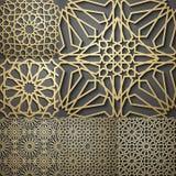 islamisk modell Sömlös arabisk geometrisk modell, östlig prydnad Royaltyfria Bilder