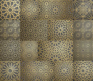 islamisk modell Sömlös arabisk geometrisk modell, östlig prydnad, indisk prydnad, persiskt motiv, 3D Ändlös textur Arkivbilder