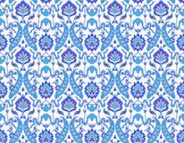islamisk modellwhite för blomma royaltyfri illustrationer