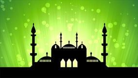 Islamisk ramadan themed loopable bakgrund vektor illustrationer