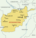 Islamisk republik av Afghanistan - översikt - vektor Royaltyfri Fotografi