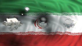 Islamisk republik av begreppet för Iran flaggakrig Royaltyfri Bild