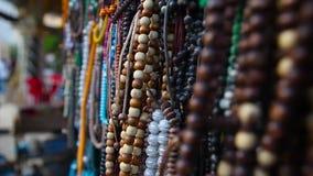 Islamiska radband, ber pärlor stock video
