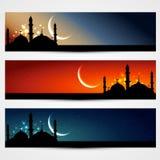 Islamiska titelrader royaltyfri illustrationer