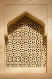 Islamiskt arkitekturfönster arkivfoton