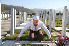 Islamiskt be på död person Royaltyfri Bild