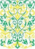 Islamiskt blom- modellmotiv Royaltyfri Bild
