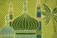 Islamiskt dekorativt tyg Arkivfoton
