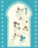 Islamiskt fönster Arkivbild