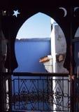 islamiskt fönster Arkivbilder
