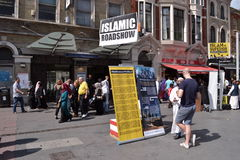 Islamist preachers East London outside Whitechapel Stock Image