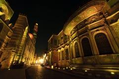 Islamitisch Kaïro bij nacht. Stock Foto