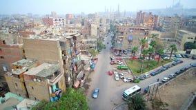 Islamitisch Kaïro van de oude minaret, Egypte stock videobeelden