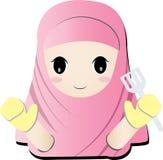Islamitisch meisjeskooktoestel Royalty-vrije Stock Fotografie