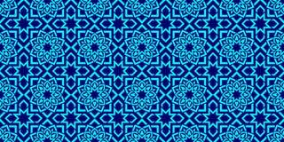 Islamitische achtergrond Arabisch herhaal textuur geometrisch naadloos patroon Elegante texturen in oostelijke stijl Heldere kleu stock illustratie