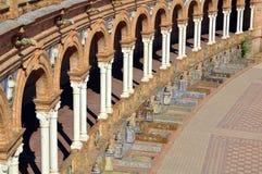 Islamitische architectuur in Sevilla Stock Fotografie