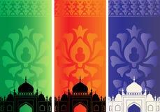 Islamitische banners met moskee vector illustratie