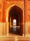 Islamitische deuropening in Taj Mahal Stock Foto