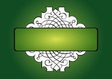 Islamitische groene achtergrond stock illustratie