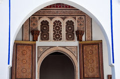 Islamitische kunsten in Meknes, Marokko Stock Fotografie