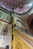 Islamitische minbar moskee in Turkije stock afbeelding