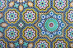 Islamitische mozaïek Marokkaanse stijl nuttig als achtergrond stock fotografie