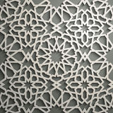 Islamitische ornament vector, Perzische motiff 3d ramadan Islamitische ronde patroonelementen Geometrische cirkel sier Stock Afbeeldingen