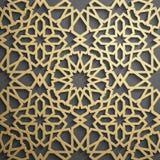 Islamitische ornament vector, Perzische motiff 3d ramadan Islamitische ronde patroonelementen Geometrische cirkel sier Royalty-vrije Stock Afbeelding