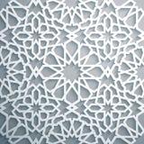 Islamitische ornament vector, Perzische motiff Witte achtergrond Lichte 3d ramadan Islamitische ronde patroonelementen Royalty-vrije Stock Foto