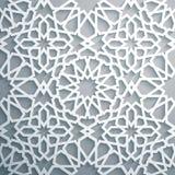 Islamitische ornament vector, Perzische motiff Witte achtergrond Lichte 3d ramadan Islamitische ronde patroonelementen Royalty-vrije Stock Foto's