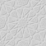 Islamitische patroon unieke steen gestempelde textuur Oostelijke naadloze achtergrond Royalty-vrije Stock Foto