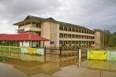 Islamitische School in Vloed Stock Foto