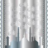 Islamitische zilveren achtergrond Royalty-vrije Stock Foto