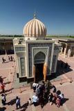 IslamKharimov mausoleum Hazrat Khizr mosk? samarkand uzbekistan fotografering för bildbyråer