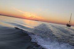 Islamorada, Florida-Sonnenuntergang-Fischen Lizenzfreie Stockfotos