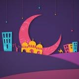 Islamscy elementy dla Muzułmańskich festiwali/lów Zdjęcie Royalty Free