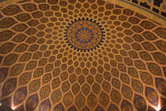 Islamska Dekoracyjna ornament architektura w kopule Fotografia Royalty Free