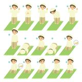 Islamska modlitwa lub Salat przewdonik dla dzieciaków Wektorowych ilustracja wektor