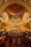 Islamska modlitwa w Suleymaniye meczecie Obraz Royalty Free