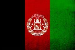 Islamska Republika Afganistan flaga państowowa Grunge tło royalty ilustracja